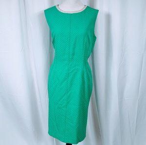 Anne Klein Green sleeveless Sheath Dress